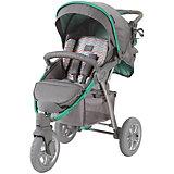 Прогулочная коляска Happy Baby Neon Sport, серый/зеленый