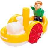Raddampfer mit Kapitän