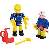 Feuerwehrmann Sam Figuren Doppelpack, Quad-Sam+Steele