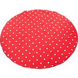 Picknickdecke mit Tragegriff, rot/weiß gepunktet, rund, 170 cm