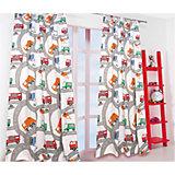 Vorhang Set Autos inkl. Bügelband, je 245 x 140 cm (2 Schals)