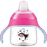 Trinklernflasche SCF751/07, 200 ml, Silikonschnabel, pink