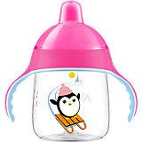 Trinklernflasche SCF753/07, 260 ml, Trinkschnabel, pink