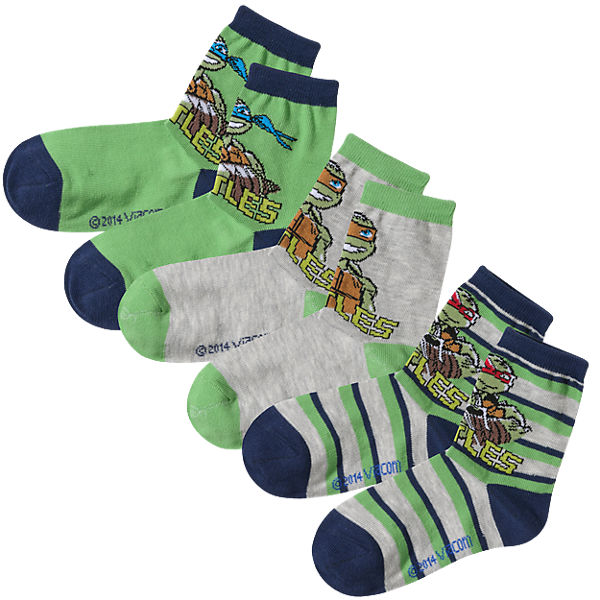 TEENAGE MUTANT NINJA TURTLES Kinder Socken 3er-Pack