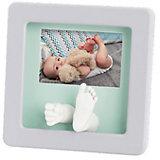 """Фоторамка """"Кит Делюкс"""" с фото, Baby Art, светло-серая"""
