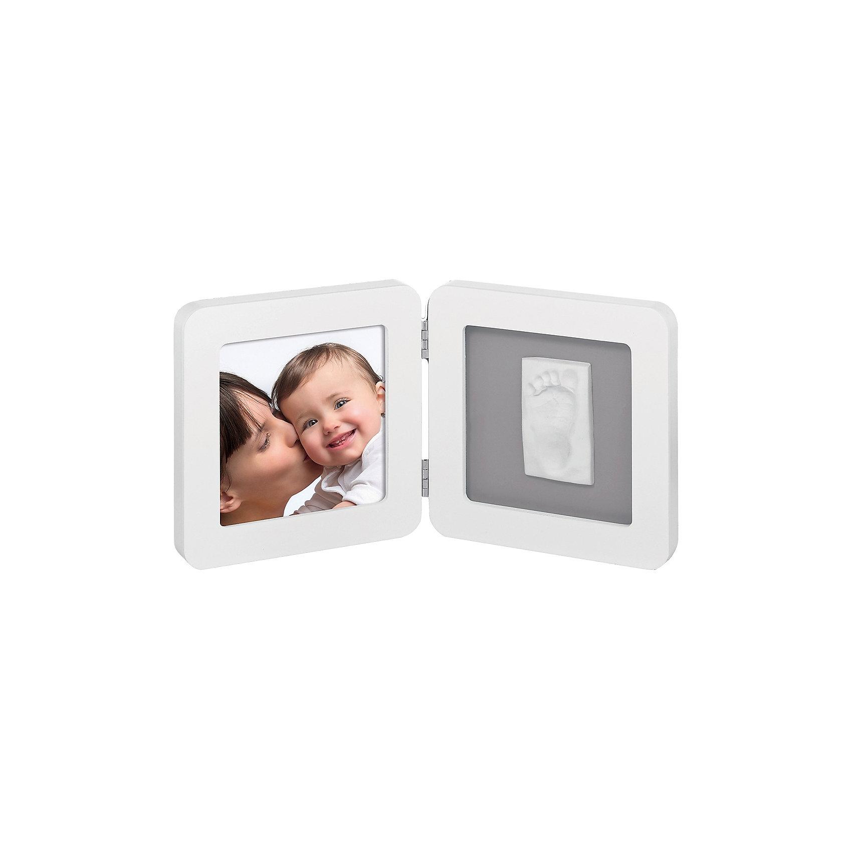 Gipsabdruck Set mit 2-tlg. Bilderrahmen white/grey