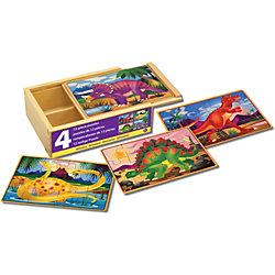 """Деревянные пазлы """"Динозавры"""", 4х12, Melissa & Doug"""