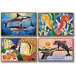 """Деревянные пазлы """"Подводная жизнь"""", 4х12, Melissa & Doug"""