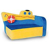 Мягкий диван Параходик 44*61*35, СмолТойс, синий