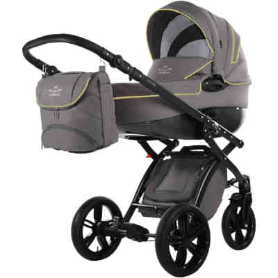 Kombi Kinderwagen Alive Be Carbon, grau-lemon