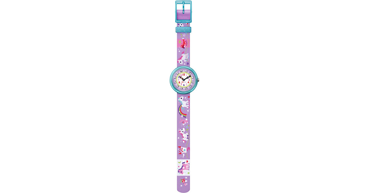 Kinder Armbanduhr MAGICAL UNICORNS lila Mädchen Kinder