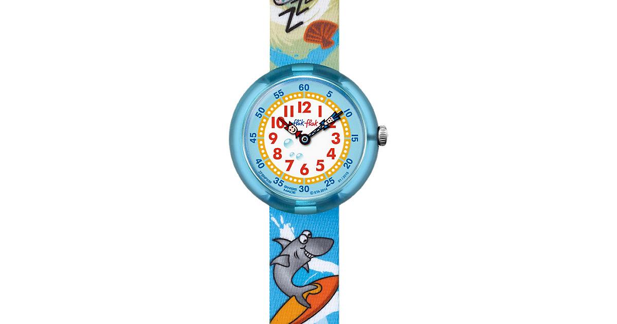 Kinder Armbanduhr SHARKS ON HOLIDAY blau Jungen Kinder