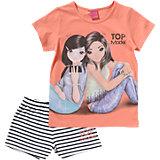 TOP MODEL Set T-Shirt + kurze Hose für Mädchen