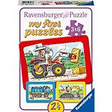 My first Puzzles - Rahmenpuzzle  Bagger, Traktor und Kipplader