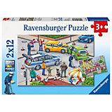 Пазл «Происшествия в городе», 2х12 деталей, Ravensburger