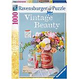 1000 Teile Vintageblumen