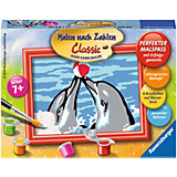 Malen nach Zahlen Serie F Spielende Delfine