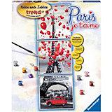 Malen nach Zahlen Sonderserie Premium Paris, je t'aime -Trend