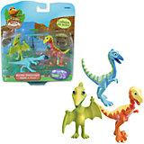 Набор из 3х фигурок (Дерек,Олли,Мистер Птеранодон), Поезд динозавров, TOMY