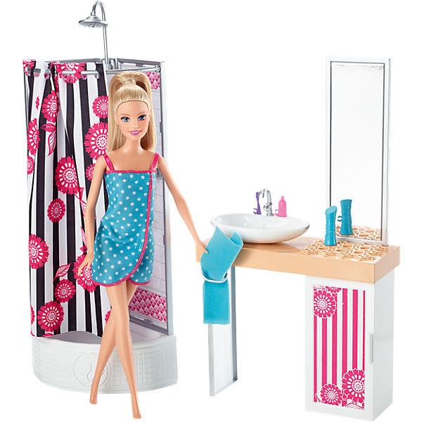 """Кукла + Комплект мебели """"Роскошная ванная"""", Barbie"""