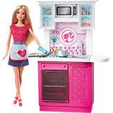 """Кукла + Комплект мебели """"Роскошная кухня"""", Barbie"""