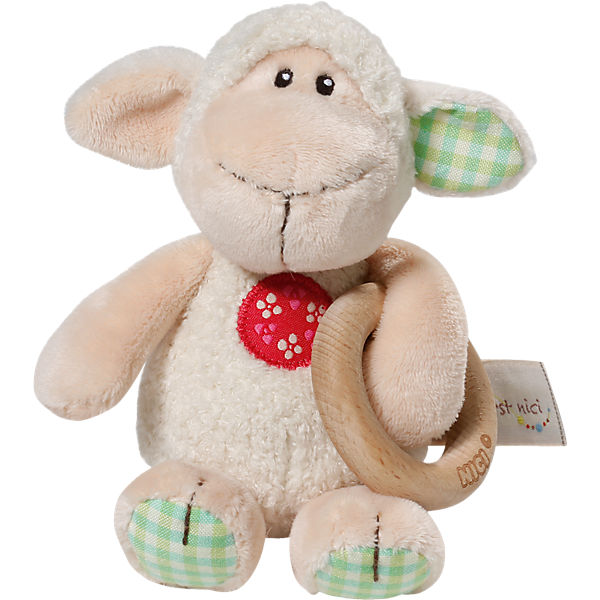 My First NICI 37881 Greifling Lamm Monny mit Holzring