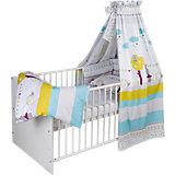 Komplett-Kinderbett Classic-Line 70x140 cm, Buche Massiv weiß lackiert