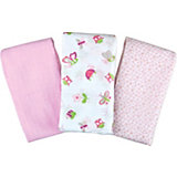 Набор пеленок с рисунком для девочек, Summer Infant, 3 штуки