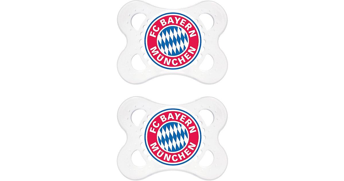 Schnuller Fußball, Silikon, Gr. 1, FC Bayern München