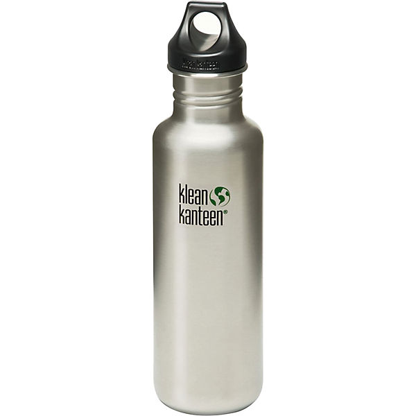 Trinkflasche Kanteen® Classic brushed stainless, 800 ml, Loop Cap