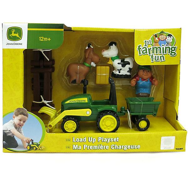 Моя первая ферма - набор с погрузчиком, TOMY