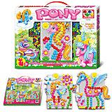 """Мозаика с аппликацией """"Пони"""", 90 деталей, д. 15 мм, Toys Union"""
