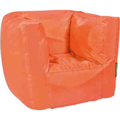 Sitzsack Cube, Oxford, orange