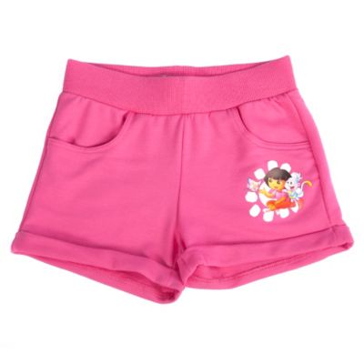 Шорты для девочки Даша-путешественница - розовый