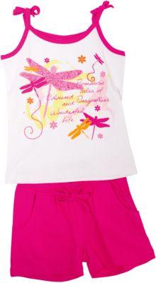 Комплект для девочки: футболка и шорты PlayToday - белый