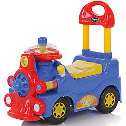 Каталка Train, голубая, Baby Care
