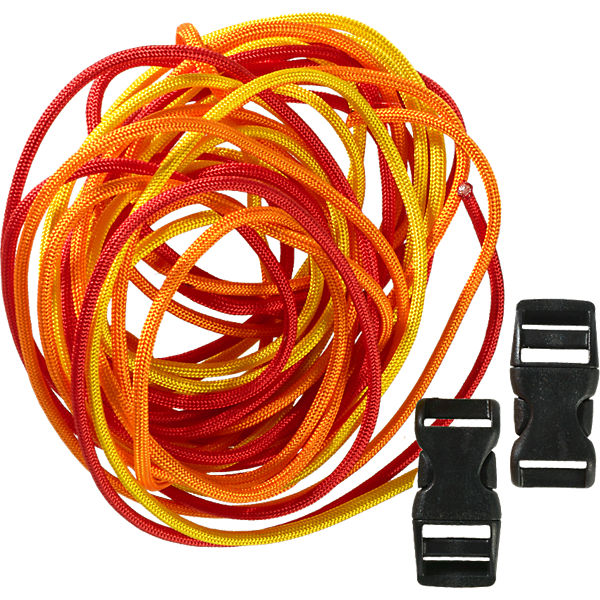 Kreativset Paracord gelb-orange-rot, 5-tlg.
