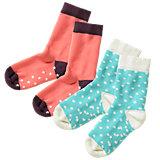 KIDIVIO Baby Krabbelsöckchen Doppelpack für Mädchen
