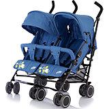 Коляска-трость для двойни Baby Care Citi Twin, синий