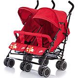 Коляска-трость для двойни Baby Care Citi Twin, красный