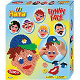 HAMA 3232 midi-Geschenkset Lustige Gesichter, ca. 2.500 Stück & Zubehör