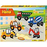 HAMA 3143 midi-Geschenkset Baufahrzeuge, ca. 4.000 Stück & Zubehör
