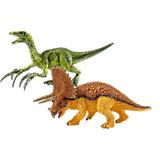 Schleich Saurier: 42217 Triceratops und Therizinosaurus, klein