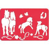 Schablonen-Malset Pferdefreunde