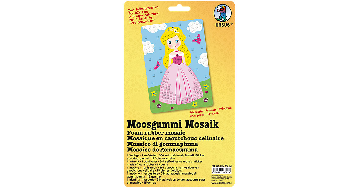 Moosgummi Mosaik Prinzessin