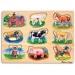 """Рамка-вкладыш со звуком """"Ферма"""", Melissa & Doug"""