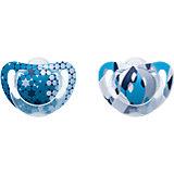 Schnuller Genius Color, Silikon, blau, 2er Pack