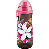 Trinkflasche Sports Cup, 450 ml, Push-Pull-Tülle, pink