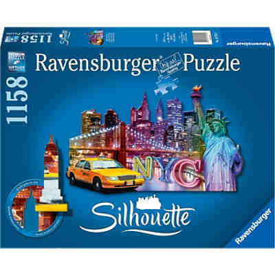 Skyline, New York Silhouette Puzzles 1158 Teile