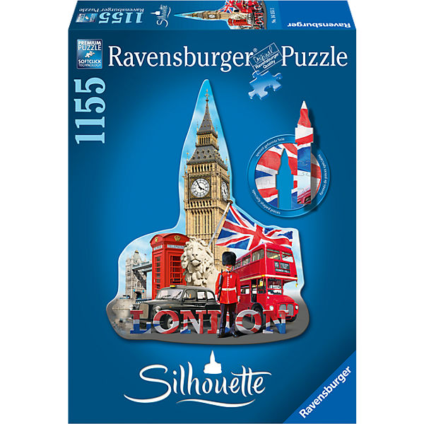 Big Ben, London Silhouette Puzzles 1155 Teile